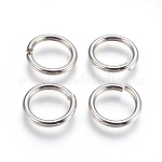 304 Stainless Steel Close but Unsoldered Jump Rings, Stainless Steel Color, 12 Gauge, 16x2mm; Inner Diameter: 12mm; 260pcs/bag