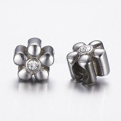 304 Stainless Steel European Beads STAS-A032-013AS-1