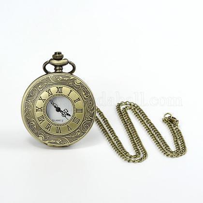 フラットラウンド合金クォーツ懐中時計WACH-N039-05AB-1