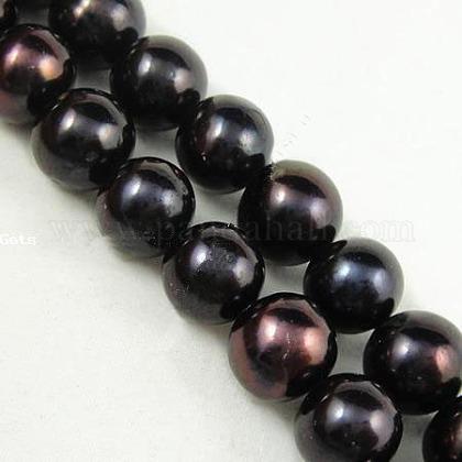 Perlas naturales abalorios de agua dulce cultivadasPEAR-D017-1-1