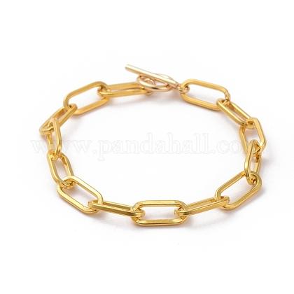 Pulseras de cadena con clip de hierro sin soldarX-BJEW-JB05044-01-1