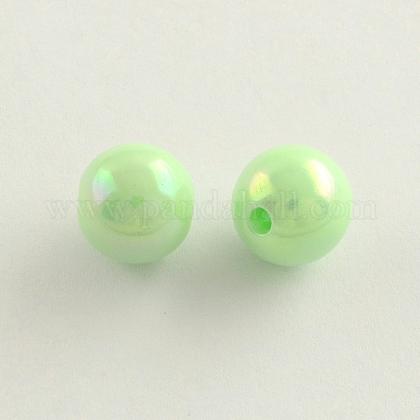 Granos redondos de acrílico chapados en color ABSACR-Q109-8mm-03-1