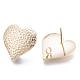Brass Stud EarringsKK-N231-04-NF-2