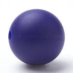 Food Grade Environmental Silicone Beads, Chewing Beads For Teethers, DIY Nursing Necklaces Making, Round, DarkSlateBlue, 8~10mm, Hole: 1~2mm