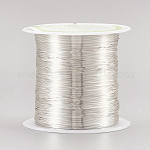 Copper Wire Copper Beading Wire, Long-Lasting Plated, Silver Color Plated, 0.3mm; 72m/roll