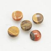 Cabuchones de piedras preciosas, medio redondo / cúpula, ojo de tigre naturale, 4x2mm