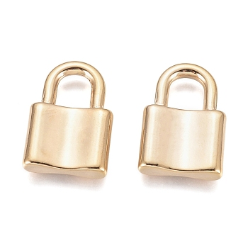 304 Stainless Steel Pendants, Padlock, Golden, 22x15x4mm, Hole: 6x7mm