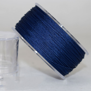 Nylon Thread Cord, For Jewelry Making, Prussian Blue, 0.4mm; about 180m/roll