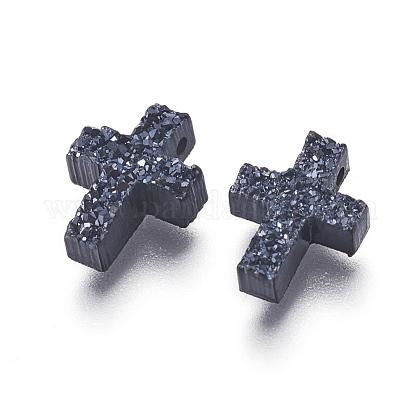 Perlas de resina de piedras preciosas druzy imitaciónRESI-L026-F05-1