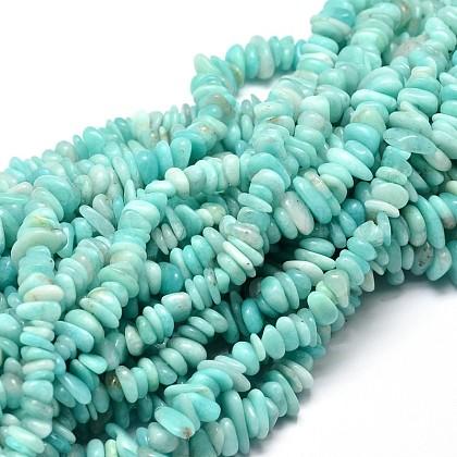 Natural Amazonite Chip Beads StrandsG-E271-75-1