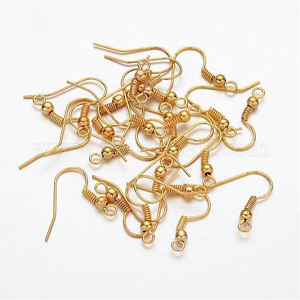 Golden Iron Earring Hooks X-E135-NFG-1