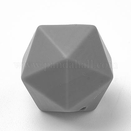 Abalorios de silicona ambiental de grado alimenticioSIL-T048-14mm-15-1