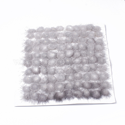 Faux Mink Fur Ball Decoration FIND-S267-4cm-11-1