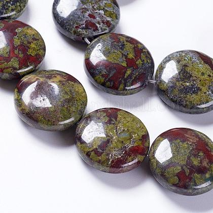 天然石ドラゴンブラッドビーズ連売りG-K267-02A-1