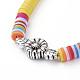 Collares ajustables con cordón de nylon trenzadoNJEW-JN02727-01-3