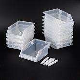 Cuentas de plástico display bandejas, Claro, 6-3/4x4-3/4x3-1/8 pulgada (17x12x8 cm), 12 PC / sistema