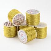 Metallic Cord, Golden, 0.8mm/strand, 100M/roll