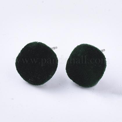Fornituras de aretes de hierro flockyIFIN-S704-34B-1