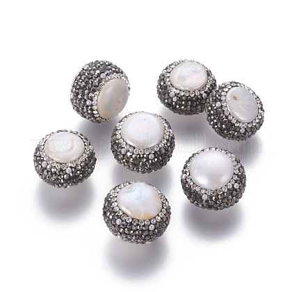 Perlas naturales abalorios de agua dulce cultivadasPEAR-F015-24-1