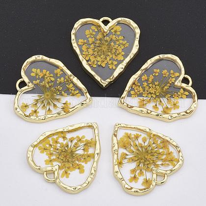 Colgantes de aleación chapada en oro claroX-PALLOY-N150-31-1