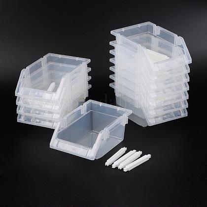 Cuentas de plástico display bandejasC049Y-1