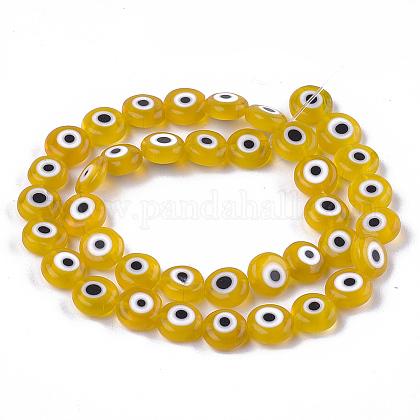 Chapelets de perles vernissées manuellesLAMP-S191-02C-01-1