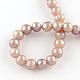 Hebras de perlas de agua dulce cultivadas naturalesPEAR-R013-05-2