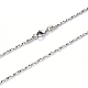 304 Stainless Steel Coreana Chain Necklace Making, with Lobster Claw Clasp, Stainless Steel Color, 19.68 inches(50cm)x1mm