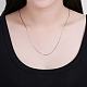 925 Sterling Silver Snake Chain Necklaces NJEW-BB19822-1-7