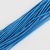 Cuerda elástica, con el exterior de la fibra y el caucho en el interior, azul reluciente, 4.0 mm; aproximamente 100 m / paquete