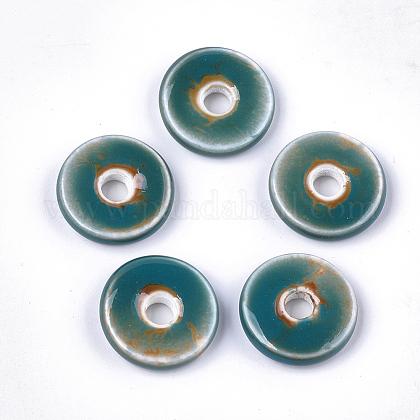 Abalorios de porcelana hechas a manoPORC-S498-54C-1