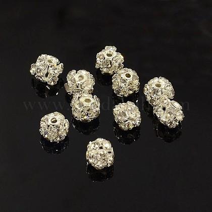 Abalorios de Diamante de imitación de latónRB-A019-6mm-01S-1