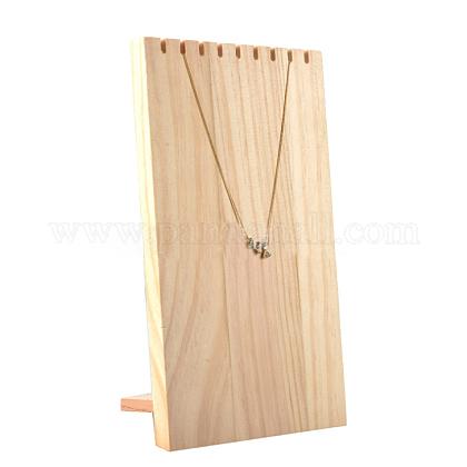 木製ネックレスジュエリーネックレスホルダーBDIS-WH0002-04-1