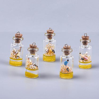 Decoraciones pendientes de cristal de la botella que deseaGLAA-S181-01C-1