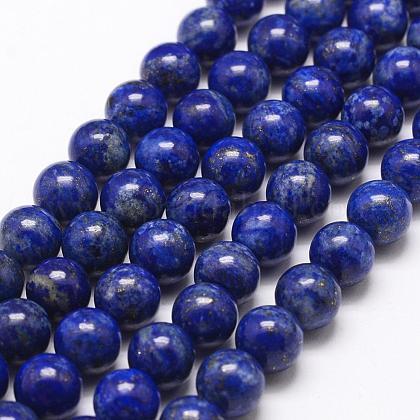 Naturales lapis lazuli de hebras de abaloriosG-G953-01-8mm-1