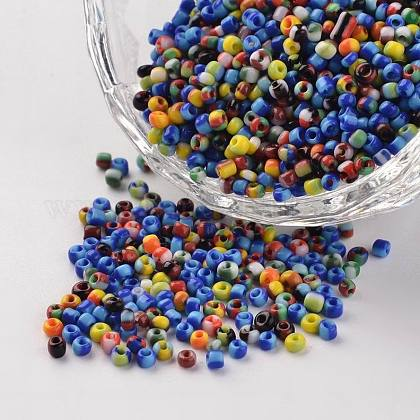 12/0 Opaque Colours Seep Glass BeadsSEED-J019-02-1