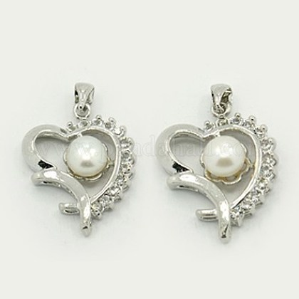 Colgantes naturales de perlas cultivadas de agua dulcePEAR-J001-01-1