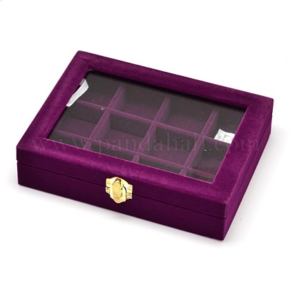 Wooden Rectangle Jewelry Boxes OBOX-L001-04B-1