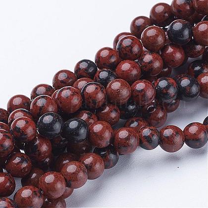 Hebra de piedras preciosas redondas de 15~16 pulgadaGSR6mmC005-1