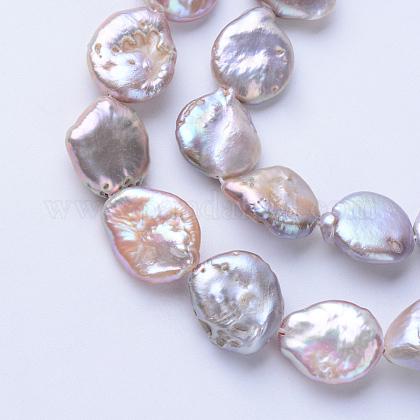 Hebras de perlas keshi de perlas barrocas naturalesPEAR-S010-38-1