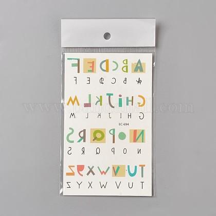 Etiquetas engomadas de papel de los tatuajes a prueba de agua temporales falsos extraíblesAJEW-WH0061-A01-1