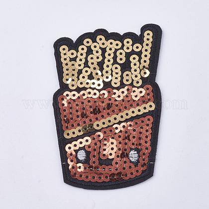 Tela de bordado computarizada para planchar / coser parchesDIY-WH0055-10-1