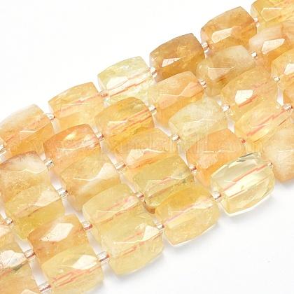 Cuentas naturales de citrino hebrasG-G765-26-1