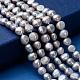 Hebras de perlas de agua dulce cultivadas naturalesPEAR-R064-24-4