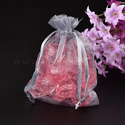 Favor Gift Present Bags 8 x 10cm Rectangular Organza Jewellery Wedding Favour