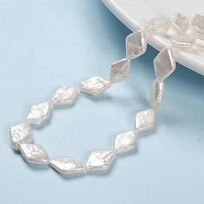 Hebras de perlas keshi de perlas barrocas naturalesPEAR-S010-28-1