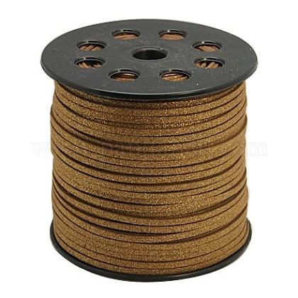 Polvo del brillo del cordón del ante de imitaciónLW-D001-1002-1