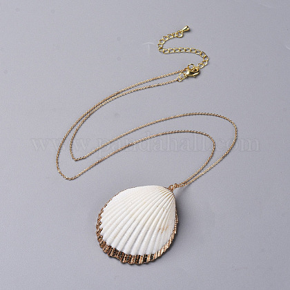 Pendentifs coquille colliersNJEW-JN02388-02-1