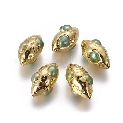 Perlas naturales abalorios de agua dulce cultivadasPEAR-F011-01C-1