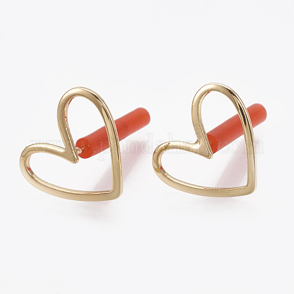 Brass Stud Earrings KK-S348-124-1